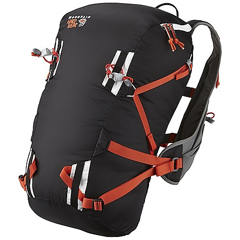 Climbing Free Shipping. Mountain Hardwear SummitRocket 20 Vest Pack DECENT FEATURES of the Mountain Hardwear SummitRocket 20 Vest Pack Fit and comfort of a vest combined with the volume and function of a summit pack Comfortable, low profile, wide, lightly padded shoulder straps distribute weight effectively and shed snow and ice Remarkably stable load control with OTF (On- The-Fly) compression system is easily activated while wearing the pack Four easy access pockets of varying sizes on shoulder straps keep necessary items in reach Convenient zip top access main compartment Versatile compression system secures climbing gear and overloads, but can be removed to reduce weight Easy tool and gear carrying setup: dual ice axe cradles and mini daisy chains The SPECS Weight: 12 oz / 340 g Capacity: 1250 cubic inches / 20 liter Torso Range: 16.0in. - 22.0in. / 41 - 56 cm Body: 100D HT Ripstop Dobby Nylon Accent: HardWear X-Ply Ripstop - $119.95
