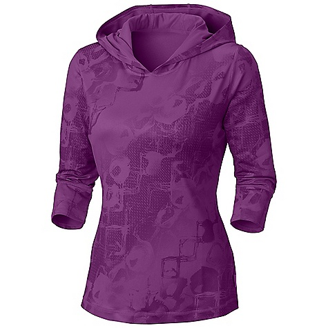 Free Shipping. Mountain Hardwear Women's Nambia Hoody DECENT FEATURES of the Mountain Hardwear Women's Nambia Hoody Wicking, fast drying, stretch fabric The SPECS Average Weight: 7 oz / 201 g Center Back Length: 22.5in. / 57 cm Body: Nambia printed besso Jersey (88% polyester, 12% elastane - $74.95