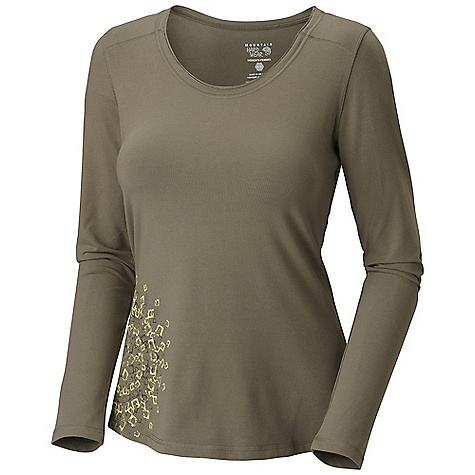 Free Shipping. Mountain Hardwear Women's Lhasa LS T DECENT FEATURES of the Mountain Hardwear Women's Lhasa Long Sleeve T Thumb loops keep hands warm Raw edge finishing at neck line Detailed with water-based placement print The SPECS Average Weight: 9 oz / 248 g Center Back Length: 24in. / 61 cm Body: V6 Stretch Jersey (90% cotton, 10% elastane) - $57.95