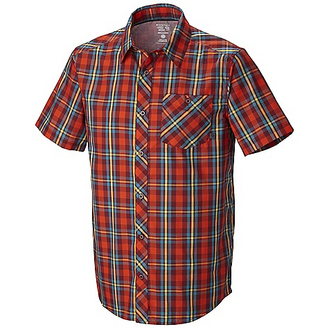 Free Shipping. Mountain Hardwear Men's Hibbard SS Shirt DECENT FEATURES of the Mountain Hardwear Men's Hibbard Short Sleeve Shirt Wrinkle-resistant, quick-drying and durable fabric Chest pocket Button front closure The SPECS Average Weight: 6 oz / 177 g Center Back Lenght: 30in. / 76 cm Body: Leroy's Fine Weave (60% cotton, 40% polyester - $64.95