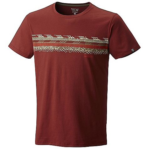 Mountain Hardwear Men's Ropatized SS T DECENT FEATURES of the Mountain Hardwear Men's Ropatized Short Sleeve T 100% cotton tee The SPECS Average Weight: 5 oz / 150 g Center Back: 28in. / 71 cm Body: Cotton tee 160gm Jersey (100% cotton) - $29.95