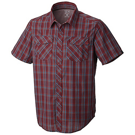 Free Shipping. Mountain Hardwear Men's Yohan SS Shirt DECENT FEATURES of the Mountain Hardwear Men's Yohan Short Sleeve Shirt Wrinkle-resistant, quick-drying and durable fabric Snap front closure Two chest pockets to store essentials The SPECS Average Weight: 7 oz / 186 g Center Back Length: 30in. / 76 cm Body: Yohan's bright Weave (60% cotton, 40% polyester) - $64.95