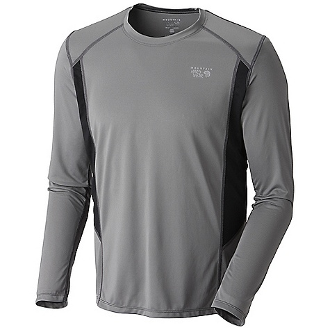Mountain Hardwear Men's Double Wicked LS T DECENT FEATURES of the Mountain Hardwear Men's Double Wicked Long Sleeve T Wicking, fast drying fabric Antimicrobial finish controls odor Flat-lock seam construction eliminates chafe Reflective trim for visibility The SPECS Average Weight: 6 oz / 161 g Center Back Length: 27in. / 69 cm Body: Wicked Taper SD100% polyester - $44.95