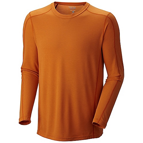 Free Shipping. Mountain Hardwear Men's Dryhiker LS T DECENT FEATURES of the Mountain Hardwear Men's Dryhiker Long Sleeve T Fast drying polyester feels like cotton Seams rotated away from pressure points for comfort under a pack Flat-lock seam construction eliminates chafe Anti-microbial finish controls odors The SPECS Average Weight: 7 oz / 205 g Center Back Length: 29in. / 74 cm Body: Drytouch Spun poly Jersey (96% polyester, 4% elastane) - $49.95