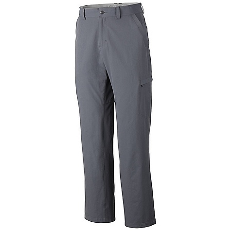 Free Shipping. Mountain Hardwear Men's Finder Pant DECENT FEATURES of the Mountain Hardwear Men's Finder Pant Durable stretch fabric Two cargo pockets with zip closure provide secure storage DWR finish repels water The SPECS Average Weight: 13 oz / 357 g Inseam: 30, 32, 34in. / 76, 81, 86 cm Body: Strolling Stretch Twill 94% nylon, 6% elastane - $84.95