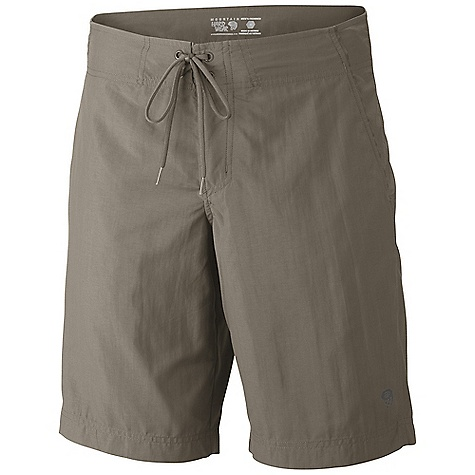Free Shipping. Mountain Hardwear Men's Mesa Crossing Short DECENT FEATURES of the Mountain Hardwear Men's Mesa Crossing Short Low-profile simple tie waist Two hand pockets One zipper pocket at side leg with key clip Seams rotated away from pressure points for comfort under a pack DWR finish repels water The SPECS Average Weight: 6 oz / 175 g Inseam: 10, 12in. / 25, 30 cm Body: Canyon twill ii (100% nylon) - $49.95