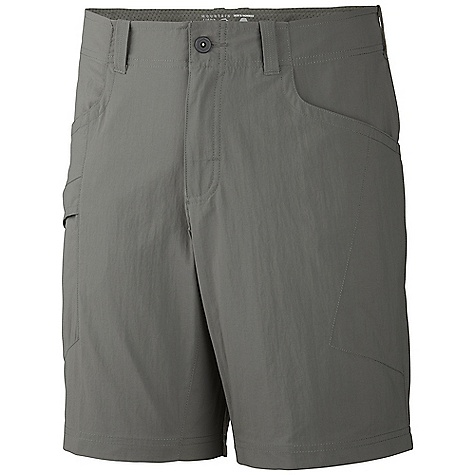 Free Shipping. Mountain Hardwear Men's Mesa Short V2 DECENT FEATURES of the Mountain Hardwear Men's Mesa Short V2 Mesh drain panels in pockets for river crossings and spontaneous swims Zippered side pocket, with key clip Knife pocket Full-length inseam gusset for mobility DWR finish repels water The SPECS Average Weight: 6 oz / 179 g Inseam: 9, 11in. / 23, 28 cm Body: Canyon twill ii (100% nylon) - $54.95