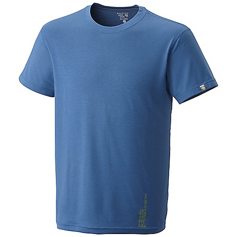 Mountain Hardwear Men's Sitstart SS T DECENT FEATURES of the Mountain Hardwear Men's Sitstart Short Sleeve T Fast drying polyester feels like cotton Graphic inspired by The Butter milks, CA, USA The SPECS Average Weight: 6 oz / 177 g Center Back: 28in. / 71 cm Body: Drytouch Spun poly Jersey (96% polyester, 4% elastane) - $44.95