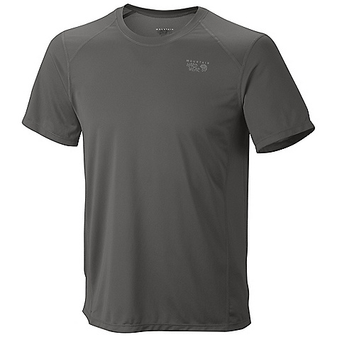 Mountain Hardwear Men's Wicked Lite SS T DECENT FEATURES of the Mountain Hardwear Men's Wicked Lite Sort Sleeve T Wicking, fast drying fabric Antimicrobial finish controls odor Flat-lock seam construction eliminates chafe Reflective trim for visibility The SPECS Average Weight: 4 oz / 122 g Centre Back Length: 27in. / 69 cm Body: Wicked Taper SD 100% polyester - $34.95