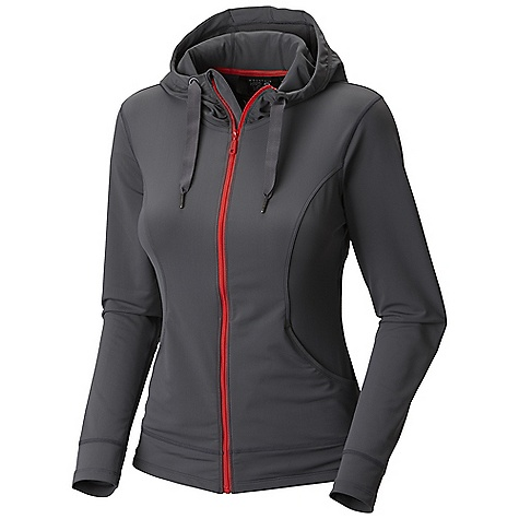 Free Shipping. Mountain Hardwear Women's Nulana Hoody DECENT FEATURES of the Mountain Hardwear Women's Nulana Hoody Wicking, fast drying, stretch fabric Super durable pick-resistant warp knit construction Low profile hood for a snug fit Full-Zip hoody with chin guard for comfort The SPECS Average Weight: 14 oz / 383 g Center Back Length: 23in. / 58 cm Body: Nulana Warp Knit (85% polyester, 15% elastane) - $99.95