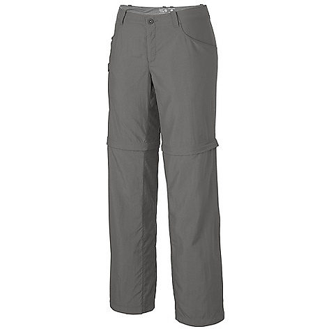 Free Shipping. Mountain Hardwear Women's Ramesa Convertible Pant V2 DECENT FEATURES of the Mountain Hardwear Women's Ramesa Convertible Pant V2 Mesh drain panels in pockets for river crossings and spontaneous swims Zippered side pocket with key clip Knife pocket Deep zipper at side hem for easy fit with boots Convert to shorts with an 9in. inseam The SPECS Average Weight: 10 oz / 274 g Inseam: 30, 32, 34in. / 76, 81, 86 cm Body: Canyon Twill II (100% nylon) - $74.95