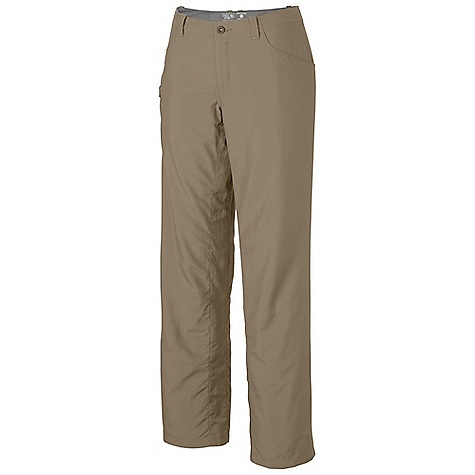 On Sale. Free Shipping. Mountain Hardwear Women's Ramesa Pant V2 FEATURES of the Mountain Hardwear Women's Ramesa Pant V2 Wrinkle-resistant, quick-drying and durable fabric Mesh drain panels in pockets for river crossings and spontaneous swims Zippered side pocket, with key clip Full-length inseam gusset for mobility DWR finish repels water - $37.99