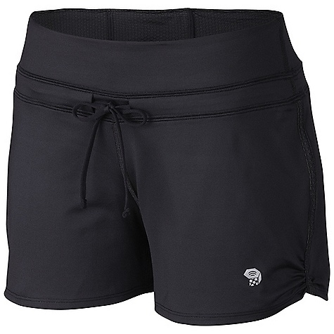 Free Shipping. Mountain Hardwear Women's Mighty Power Training Short DECENT FEATURES of the Mountain Hardwear Women's Mighty Power Training Short Wicking, fast-drying, stretch fabric Mesh lined low-profile waistband for cooling and comfort Flat-lock seam construction eliminates chafe Inside waistband pocket for strategic storage Reflective trim for visibility The SPECS Average Weight: 4 oz / 123 g Inseam: 4in. / 10 cm Body: Besso Jersey v2.0 (82% polyester, 18% elastane) Mesh: Mighty power Mesh (89% polyester, 11% elastane) - $49.95