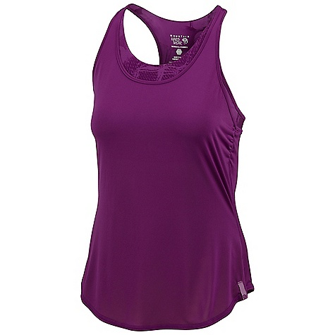 Fitness Free Shipping. Mountain Hardwear Women's Nambia 2-In-1 Tank DECENT FEATURES of the Mountain Hardwear Women's Nambia 2-In-1 Tank Wicking, fast drying, stretch fabric Twisting back strap detail Full shelf bra The SPECS Average Weight: 6 oz / 165 g Center Back Length: 27.5in. / 70 cm Outer: So Fine Jersey (100% polyester) Inner: Nambia printed besso Jersey (88% polyester, 12% elastane - $59.95