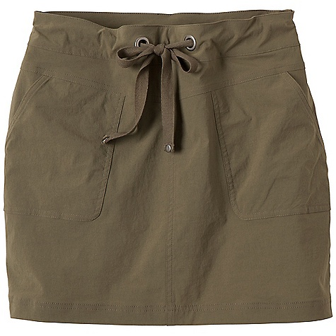 Free Shipping. Prana Women's Bliss Skirt DECENT FEATURES of the Prana Women's Bliss Skirt Stretch woven fabrication Active, outdoor skirt Front patch pockets Drawcord waistband with rivet and grommet detailing UPF rating of 40+ Outseam: 16in. / 40.6 cm Relaxed fit - $54.95