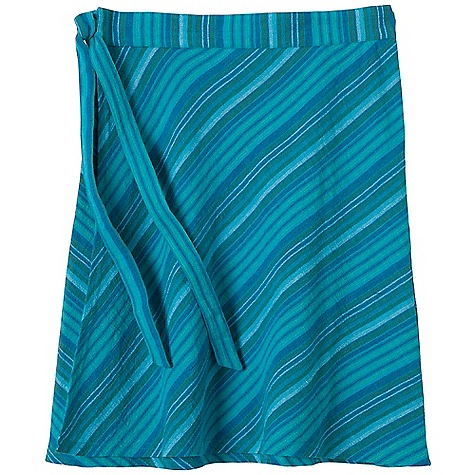 Free Shipping. Prana Women's Mahala Skirt DECENT FEATURES of the Prana Women's Mahala Skirt Woven gauze yarn-dye stripe Wrap skirt with bias cut front panel and mitered stripes at back Outseam: 19in. / 48.2 cm The SPECS 100 Cotton - $54.95