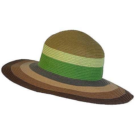 Prana Women's Dita Sun Hat DECENT FEATURES of the Prana Women's Dita Sun Hat Paper straw sunhat Colorblock stripe Extra wide brim for ultimate sun protection Standard fit The SPECS 100 Paper - $41.95