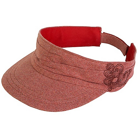 Prana Women's Devi Visor DECENT FEATURES of the Prana Women's Devi Visor Jersey knit fabrication Pintucks and floral embroidery design Visor fit The SPECS 100 Cotton - $27.95