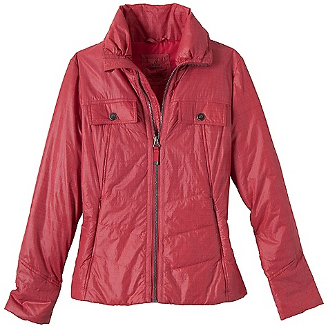 Free Shipping. Prana Women's Chantal Jacket DECENT FEATURES of the Prana Women's Chantal Jacket Crosshatch nylon with durable water repellent (DWR) finish Front chest snap pockets and front zipper pockets Lined 60 gm fill Standard fit The SPECS 100 Nylon 1.89 oz / sq yd - $138.95