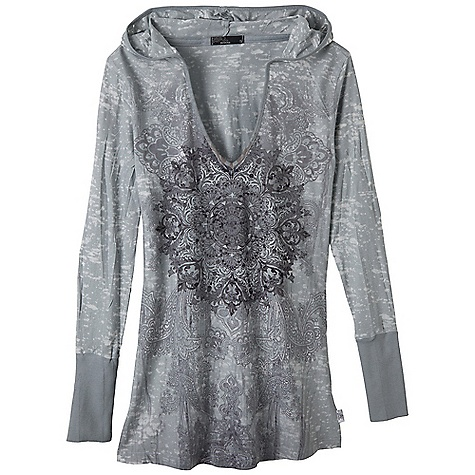 Free Shipping. Prana Women's Chai Hoodie DECENT FEATURES of the Prana Women's Chai Hoodie Lightweight burnout fabric Everybody's favorite pullover silhouette Elegant pattern with sublimation The SPECS 50 Organic Cotton / 50 Recycled Polyester - $69.95