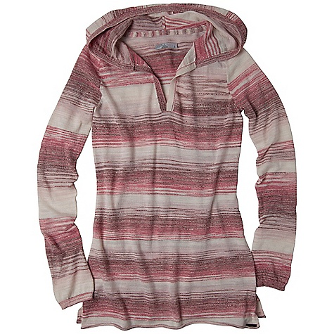 Free Shipping. Prana Women's Gemma Sweater DECENT FEATURES of the Prana Women's Gemma Sweater Lightweight space dye sweater knit V-neck tunic hoodie with side slits The SPECS 60 Cotton / 40 Polyester - $74.95