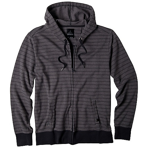 Free Shipping. Prana Men's Lunar Full Zip DECENT FEATURES of the Prana Men's Lunar Full Zip Yarn dye interlock jacquard Rib knit cuffs and hem Twill drawcord at hood Front patch pockets Standard Fit The SPECS 100 Organic Cotton - $78.95