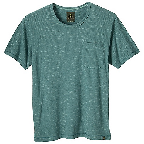 Prana Men's Cooper Crew DECENT FEATURES of the Prana Men's Cooper Crew Marled yarn creates a distinctive slub texture Front patch pocket Lightweight jersey Standard Fit The SPECS 100 Organic Cotton - $47.95