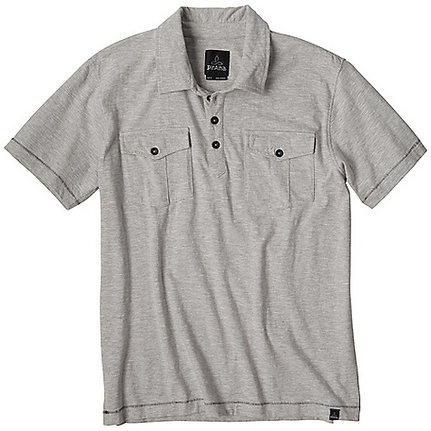 Free Shipping. Prana Men's McKinnley SS Polo DECENT FEATURES of the Prana Men's McKinnley Short Sleeve Polo Marled yarn creates a distinctive slub texture Lightweight jersey Standard Fit The SPECS 100 Organic Cotton - $59.95