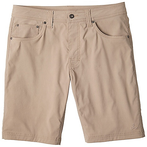 The Prana Men's Brion Short is a casual short that isn't afraid of a little side adventure. Constructed with the original Stretch 'Zion' fabric, you're getting a blend of nylon and spandex that not only stretches when you move, but wicks moisture for all-day, all-adventure comfort. They look good for exploring the city and perform like a champ when an unexpected bouldering trip takes place. Also looks great on guys named Brian. Features of the Prana Men's Brion Short Abrasion resistant stretch nylon twill 5-pocket styling with fixed waist and belt loops Reinforced rivet details Mesh pocketing DWR coated Stretch: Stretch fabrication extends, expands and contracts to move with you allowing for ultimate flexibility during any sport, activity or movement Durable Water Repellent (DWR): Resistant to penetration by water but not entirely waterproof Quick Dry: Water resistant, these products keep moisture on the fabric's surface making it easy for the sun and/or air to lift moisture out and promote evaporation - $64.95