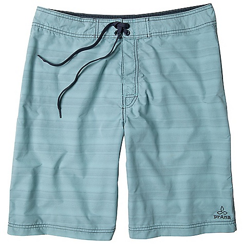 Features of the Prana Men's El Porto Short Baja style striped short Velcro closure with stretch polyester panel Drawcord ties with logo eyelet details UPF rated for sun protection UPF (Ultra Violet Protection Factor): The protection given to the skin by a fabric is indicated by its UV Protection Factor (UPF) Specifically designed to block the sun's harmful UV radiation from damaging the skin (widely known as UVA/UVB/UVC rays) Quick Dry: Water resistant, these products keep moisture on the fabric's surface making it easy for the sun and/or air to lift moisture out and promote evaporation - $44.99