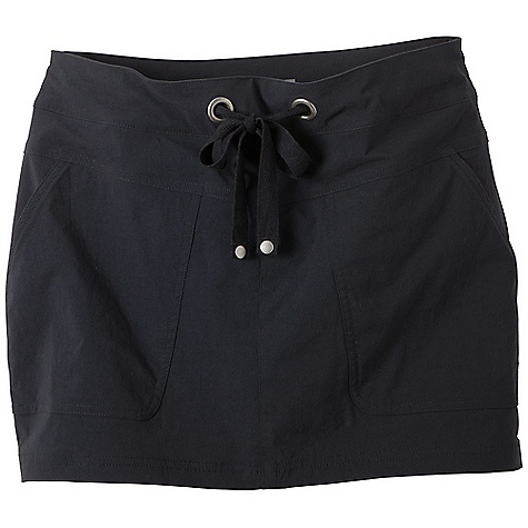Free Shipping. Prana Women's Bliss Skort DECENT FEATURES of the Prana Women's Bliss Skort Stretch woven fabrication Active, outdoor skort Jersey short liner under skirt Front patch pockets Drawcord waistband with rivet and grommet detailing UPF rating of 40+ Short Inseam: 2.5in. / 6.4 cm, Skirt Outseam: 13.5in. / 34.3 cm Relaxed fit - $59.95