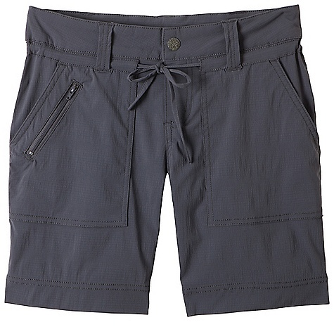Free Shipping. Prana Women's Nora Short DECENT FEATURES of the Prana Women's Nora Short Stretch, performance mini ripstop Waistband tunnel casing with functional drawstring Snap closure at front fly Front pockets and back patch pockets with snaps Small zip pocket at wearer's front left pocket Inseam: 7in. / 17.8 cm Relaxed fit The SPECS 96 Nylon / 4 Spandex 4.1 oz / sq yd - $68.95