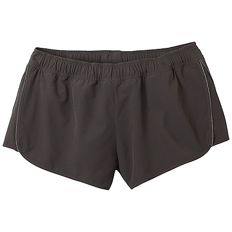 Free Shipping. Prana Women's Poppy Short DECENT FEATURES of the Prana Women's Poppy Short Lightweight, stretch Flex performance woven Reflective piping at front and back sides Interior jersey brief with stash pocket Interior drawcord Inseam: 1/2in. / 6.4 cm Relaxed fit The SPECS 87 Recylced Polyester / 13 Spandex 4 oz / sq yd Liner brief: 91 Polyester / 9 Spandex - $54.95