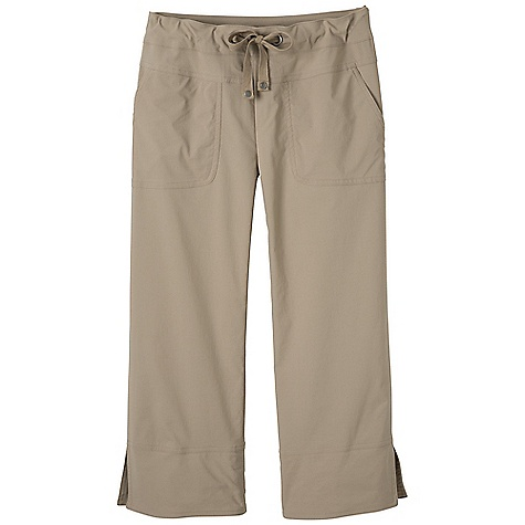 Free Shipping. Prana Women's Bliss Capri DECENT FEATURES of the Prana Women's Bliss Capri Stretch woven fabrication Active, outdoor capri Front patch pockets Drawcord waistband with rivet and grommet detailing UPF rating of 40+ Inseam: small: 22in. / 55.9 cm Relaxed fit - $64.95