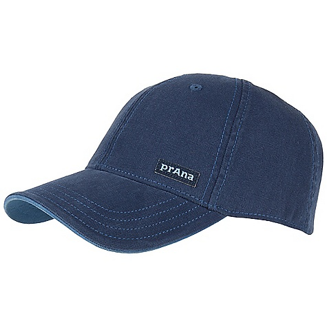 Prana Marr Ball Cap DECENT FEATURES of the Prana Marr Ball Cap Organic cotton canvas ball cap Adjustable Velcro strap at back Contrast color under bill Woven label and tonal logo embroidery Standard fit The SPECS 98 Organic Cotton / 2 Spandex - $27.95