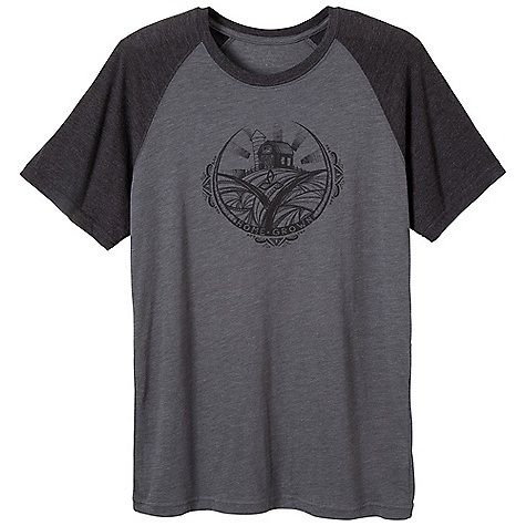 Prana Men's Farm Tee DECENT FEATURES of the Prana Men's Farm Tee Block print Mandala inspired from home grown food Lightweight heathered jersey Waterbased screenprint Standard Fit The SPECS 60 Cotton / 40 Polyester - $34.95