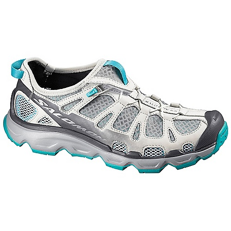 Camp and Hike Free Shipping. Salomon Women's Gecko Shoe DECENT FEATURES of the Salomon Women's Gecko Shoe Outsole: Non-Marking Water Contagrip, Os Tendon, Dynamic Traction Sockliner: Die Cut EVA Midsole: Os Muscle, Injected EVA The SPECS Weight: 10.6 oz / 300 g Quick Drying Breathable Mesh Anti-Debris Mesh Breathable Open Mesh Upper Elastic For Easy Entry Lace Pocket Breakaway Lace System Protective Synthetic Toe Cap Quick lace Optimized Fit For Women Lining Material: Textile Neoprene Lycra - $119.95