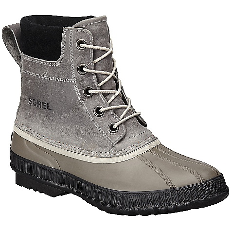 Free Shipping. Sorel Men's Spring Cheyanne Lace Boot DECENT FEATURES of the Sorel Men's Spring Cheyanne Lace Boot Seam-sealed waterproof full-grain upper 1.5mm rubber shell Weight: 5.9 oz / 622g Upper: Leather Outsole: Rubber - $124.95