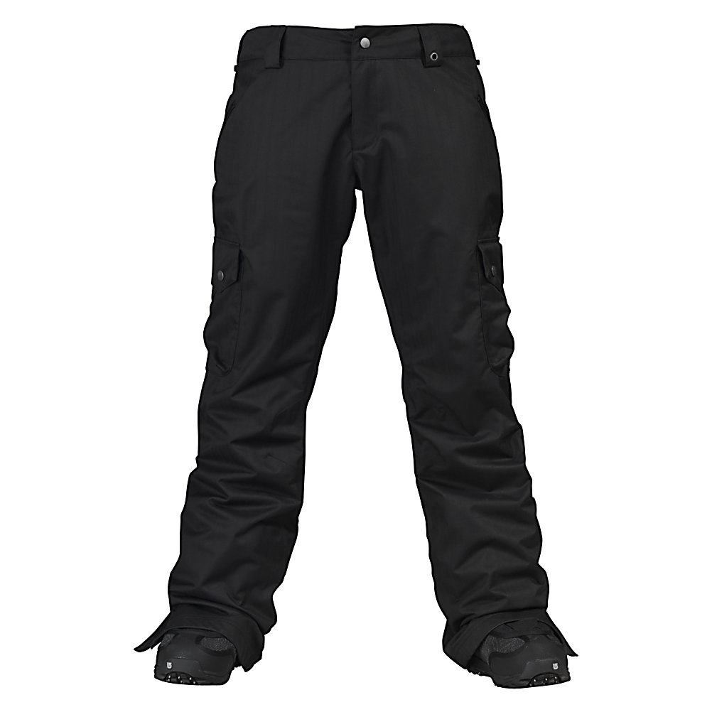 Snowboard Burton Lucky Womens Snowboard Pants - Burton's Lucky Pants might not posses the belly rubbing powers of the Maneki Neko but Kelly Clark sure swears by it and bought it in SIX different colorways! While we can't all be so 'lucky', Kelly confirms that this pant is always a winner. Clean styling and Burton's classic Sig Fit makes for a look that complements any jacket in the women's Burton line. Waterproof, fully taped DRYRIDE Durashell 2L fabric goes beyond the basics with an intricate herringbone weave. The crisp taffeta lining keeps you dry on the inside by using a mix of silk and synthetic fibers for a unique, high-end feel and added breathability. With a 10k waterproofness rating and 5k in breathability, comfort is guaranteed. Check out the mesh-lined inner thigh vents for some user-controlled air conditioning, when needed. The Lucky True Black comes in a variety of sizes, including tall and short, so all can enjoy a little luck at the park. Features: Leg lifts, Ghetto slits, Jacket-to-pant interface, Taped Seems: Yes. Full Zip Sides: No, Warranty: One Year, Model Year: 2011, Product ID: 202942, Shipping Restriction: This item is not available for shipment outside of the United States., Pockets: 5-6, Waist: Beltloops, Lining Material: Taffeta Lining, Cut: Regular, Type: Shell, Use: Snowboard, Breathability: Moderate Breathability (4000g-8999g), Waterproof: Moderately Waterproof (5000mm-19,999mm), Race: No, Low Rise: Yes, Articulated Knee: Yes, Suspenders: None, Scuff Guards: No, Lower Cuff Adjustment: None, Thi - $49.95