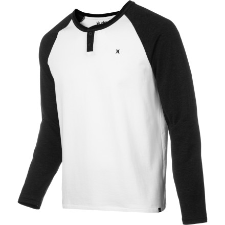 Surf Hurley Stadium Henley Shirt - Long-Sleeve - Men's - $29.59