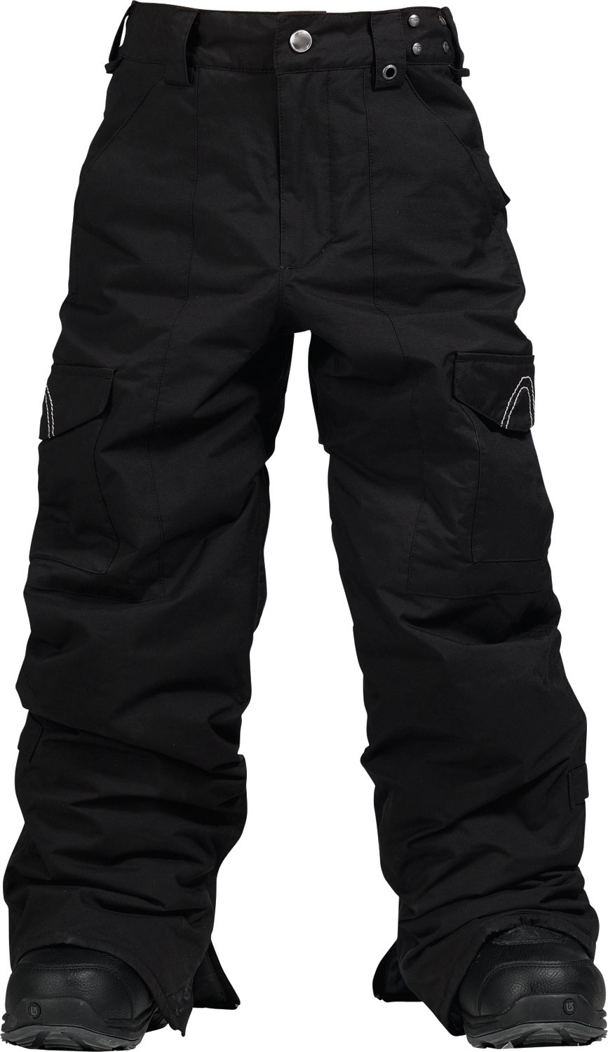 Snowboard Burton TWC Transmission Snowboard Pants for kids deliver champion style and performance. Double-layered DryRide Durashell is lined in whisper-soft taffeta, with fleece at the knees and seat to cushion the impact of hard landings. Quick and easy jacket-to-pant attachment, boot gaiter and Ghetto slits provide continuous protection from powder spray, while custom Leg Lifts keep cuffs scuff-free. Pockets aplenty offer a place for young riders to stow their stuff in the TWC Transmission from rider favorite, Burton.Key Features of The Burton TWC Transmission Kids Snowboard Pants: 5,000mm Waterproof 4,000g Breathability DRYRIDE Durashell 2-Layer Coated Fabric [5,000MM, 4,000G] Thermacore Insulation [60G Throughout] Embossed Taffeta Lining Critically Taped Seams Fleece Butt and Knees Ghetto Slits Link ZIP Jacket-to-Pant Velcro Butt Pockets Zippered Handwarmer Pockets Microfleece and Taffeta-Lined Pockets Jacket-to-Pant Interface Articulated Knees Boot Gaiter Microfleece-Lined Waistband Internal Waistband Adjustment Leg Lifts,Keep Your Cuffs Scuff-Free - $81.95