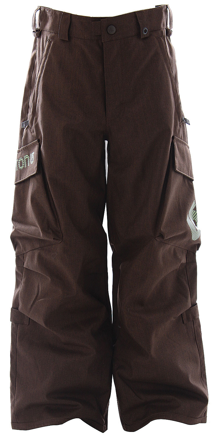 Snowboard Burton Cargo Snowboard Pants have classic freestyle fit, form, and funk-tion.Key Features of The Burton Cargo Boy's Snowboard Pants: 5,000mm Waterproof 4,000g Breathability DRYRIDE Durashell 2-Layer Coated Fabric [5,000MM, 4,000G] Thermacore Insulation [60G Throughout] Embossed Taffeta Lining Critically Taped Seams Dual Cargo Pockets Butt Pockets Link ZIP Jacket-to-Pant Interface Includes Youth Pant Features Package - $53.95
