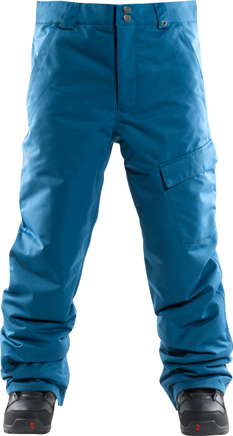 Snowboard Foursquare Work Snowboard Pants boast a durable and lightweight 2L MicroShield Ottoman Poly shell with 210T taffeta lining. A fabric waterproof rating of 5,000mm and a breathability of 5,000g ensure that moisture stays out but doesn't stay in. Fully taped seams seal the Foursquare Work Snowboard Pants to keep you dry even in tough weather and boot gaiters cover any exposed skin at the ankles. Be prepared for any type of outdoor winter work with five pockets (including one cargo , a key clip and a ticket ring belt loop.Key Features of the Foursquare Work Snowboard Pants:  5,000mm Waterproof  5,000g Breathability  Type: Shell  Material: 2L MicroShield Ottoman Poly  210T Taffeta Lining   Fully Taped Seams  Jacket-to-pant interface  Mesh lined inner thigh vents  Boot gaiters  Micro fleece lined interior fly and waistband  Key Clip  Ticket ring belt loop - $55.95