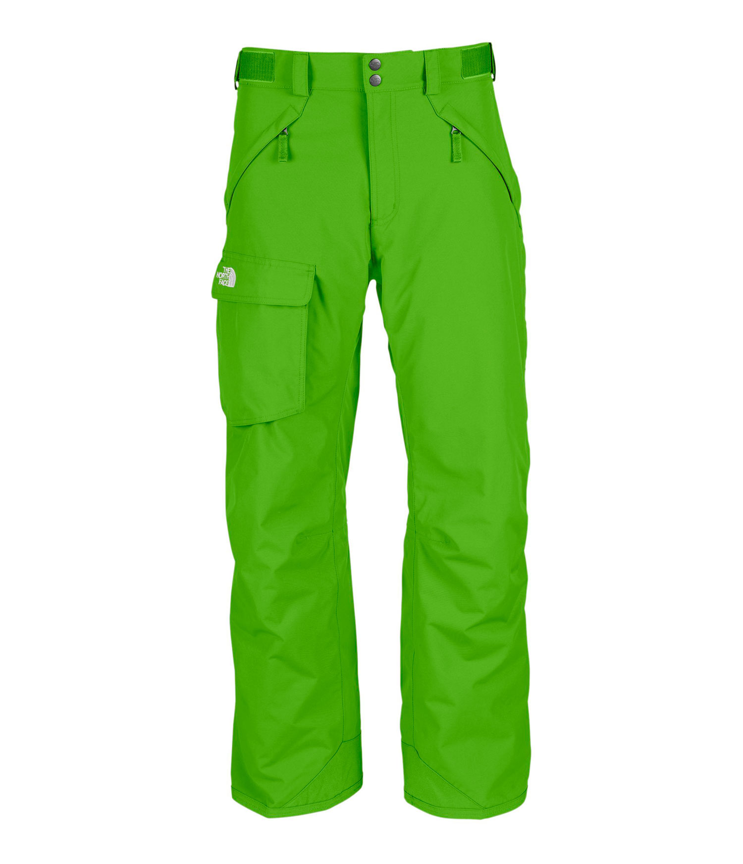 "Ski Free-fitting, high-performance pant with durable, waterproof construction. Key Features of The North Face Freedom Shell Ski Pants: Avg Weight: 770 g (27.16 oz) Inseam: S 29"", R 31"", L 33"" Fabric: 210D x 235D 189 g/m2 HyVent 2L foxfaille nylon faille Waterproof, breathable, fully seam sealed Adjustable waist tabs Handwarmer zip pockets Exterior thigh vents with mesh gussets Flap cargo pocket StretchVent gaiter with gripper elastic Chimney Venting system Reinforced cuff - $97.95"