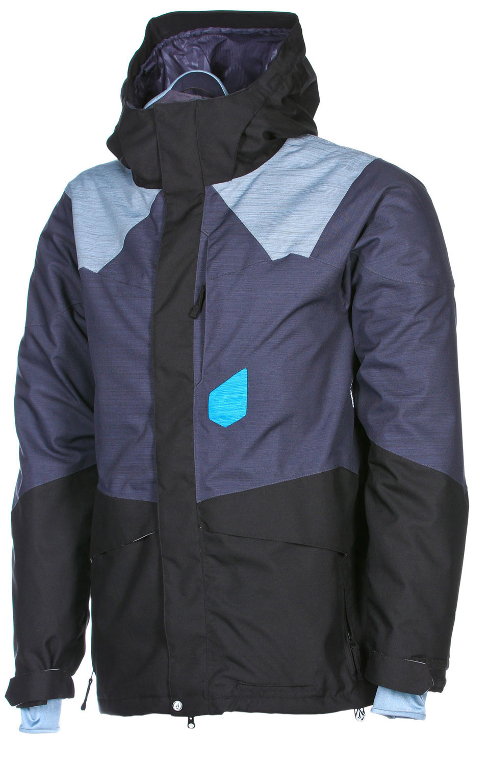 "Snowboard Key Features of the Volcom Gigi Ruf ""T.D.S"" Snowboard Jacket: 15,000mm Waterproof 10,000gm Breathability V-Science 2 Layer Shell *V-Science 2-Tone Twill ""T.D.S"" 2-Layer Lining System 35gm Poly Fill Baffles Fully Taped Seams Zip Tech Jacket to Pant Interface Face Tech 2-Way Adjustable Hidden Toggle Quick Cinch Hood Peripheral Hood Adjustment Goggle Clips Super Suede Chin Guard Mesh Lined Zippered Vents Stretch Adjustable Powder Skirt w/ Stash Pocket Powder Skirt Jacket to Pant Interface V-Science 2 Way Cuff System Lycra Hand Gaitors Brushed Tricot Lined Handwarmer Pockets Pocket Access Hem Cinch Goggle Pocket Noise Pocket Stone Ticket Ring Whistle Zipper Pull Pull Down Pass Pocket Stone Screen On Hood - $207.95"