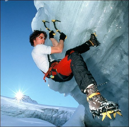 Climbing ice climbing demands nerves of steel