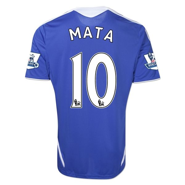 Entertainment Mens MATA Chelsea Home Soccer Jersey 11/12