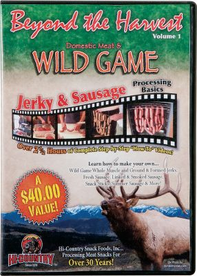Entertainment Covers wild-game and farm-raised meat processing, including: whole-muscle and ground jerky; fresh-, linked- and smoked-sausage making; snack sticks; summer sausage; pet snacks and more. Also details USDA guidelines for safe cooking and sanitation procedures. Approximately 168 minutes. - $4.88