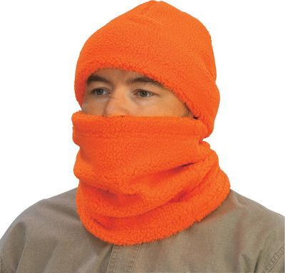 Hunting Keep those frigid chills away from your skin and retain your core heat with Outfitter Blaze Berber Gaiter. No matter where you wear it, our Berber locks in heat to keep you warm in frigid conditions. The blaze-orange Gaiter has a soft and comfortable feel and is ultraquiet. Size: One size fits most. Color: Blaze.Item note: Cap not included. - $5.88