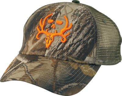 Hunting Be part of the Bone Collector team with a low-profile cap that proclaims your passion for hunting. The front is 60/40 cotton/polyester blend fabric and the back is cooling camo mesh with an adjustable strap for a custom fit. One size fits most. Imported.Colors/Camo patterns: Realtree APG /Olive, Realtree AP /Blaze. - $19.99